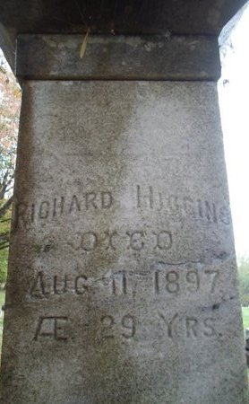 HIGGINS, RICHARD - Saratoga County, New York   RICHARD HIGGINS - New York Gravestone Photos