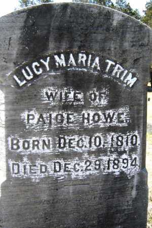 TRIM HOWE, LUCY MARIA - Saratoga County, New York | LUCY MARIA TRIM HOWE - New York Gravestone Photos
