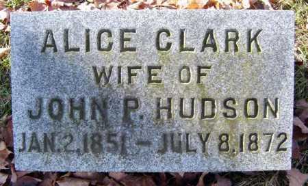 CLARK HUDSON, ALICE - Saratoga County, New York | ALICE CLARK HUDSON - New York Gravestone Photos