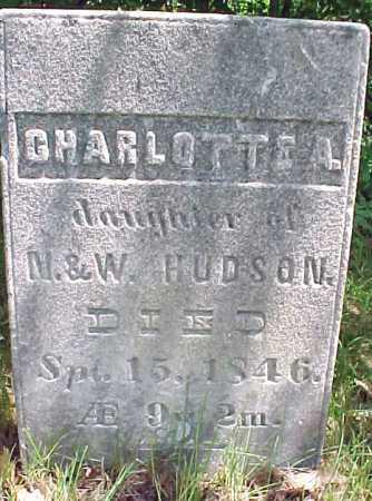 HUDSON, CHARLOTTE A - Saratoga County, New York | CHARLOTTE A HUDSON - New York Gravestone Photos