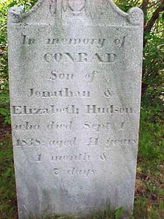 HUDSON, CONRAD - Saratoga County, New York | CONRAD HUDSON - New York Gravestone Photos