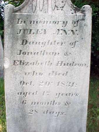 HUDSON, JULEY ANN - Saratoga County, New York | JULEY ANN HUDSON - New York Gravestone Photos