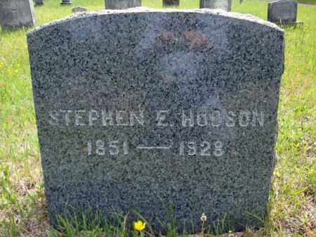 HUDSON, STEPHEN E - Saratoga County, New York | STEPHEN E HUDSON - New York Gravestone Photos