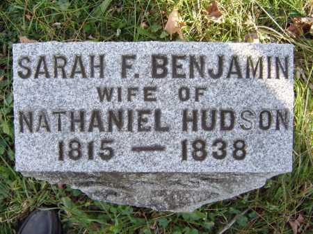 BENJAMIN HUDSON, SARAH F - Saratoga County, New York | SARAH F BENJAMIN HUDSON - New York Gravestone Photos