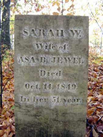 JEWEL, SARAH W - Saratoga County, New York   SARAH W JEWEL - New York Gravestone Photos