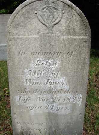 JONES, BETSY - Saratoga County, New York | BETSY JONES - New York Gravestone Photos