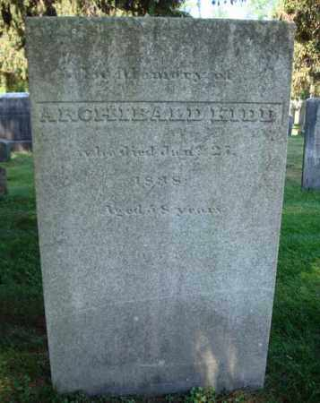 KIDD, ARCHIBALD - Saratoga County, New York | ARCHIBALD KIDD - New York Gravestone Photos