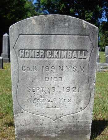 KIMBALL (CW), HOMER C - Saratoga County, New York | HOMER C KIMBALL (CW) - New York Gravestone Photos
