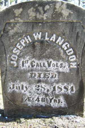 LANGDON (CW), JOSEPH W - Saratoga County, New York   JOSEPH W LANGDON (CW) - New York Gravestone Photos