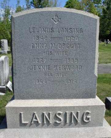 LANSING, ANNA M - Saratoga County, New York | ANNA M LANSING - New York Gravestone Photos