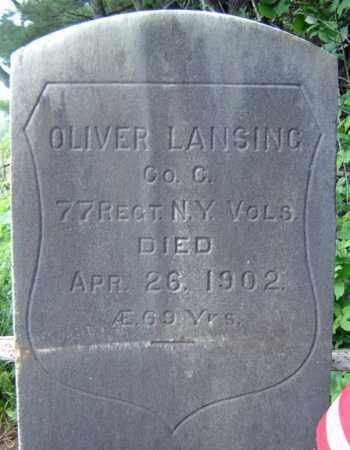 LANSING, OLIVER - Saratoga County, New York   OLIVER LANSING - New York Gravestone Photos