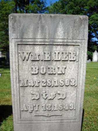LEE, WILLIAM E - Saratoga County, New York | WILLIAM E LEE - New York Gravestone Photos