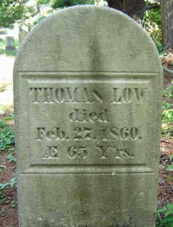 LOW, THOMAS - Saratoga County, New York | THOMAS LOW - New York Gravestone Photos