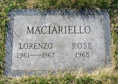 MACIARIELLO, ROSE - Saratoga County, New York | ROSE MACIARIELLO - New York Gravestone Photos