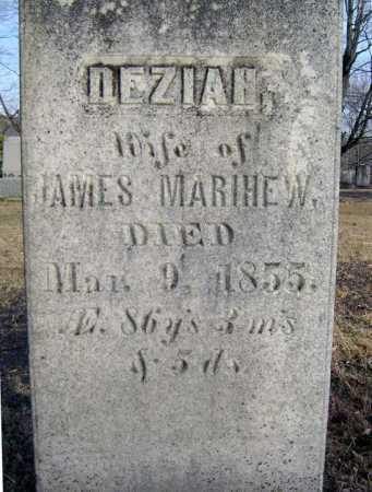 MARIHEW, DEZIAH - Saratoga County, New York | DEZIAH MARIHEW - New York Gravestone Photos