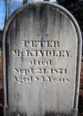MCKINDLEY, PETER - Saratoga County, New York | PETER MCKINDLEY - New York Gravestone Photos
