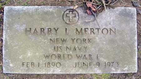 MERTON (WWI), HARRY L - Saratoga County, New York | HARRY L MERTON (WWI) - New York Gravestone Photos