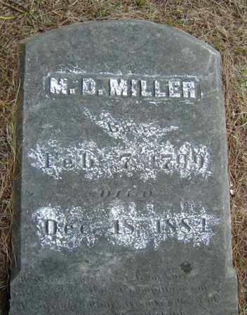 MILLER, M D - Saratoga County, New York   M D MILLER - New York Gravestone Photos