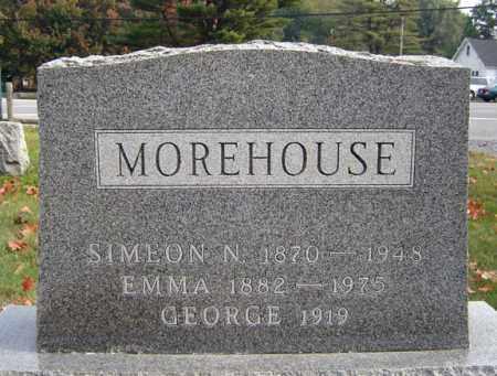 MOREHOUSE, SIMEON NATHANIEL - Saratoga County, New York | SIMEON NATHANIEL MOREHOUSE - New York Gravestone Photos