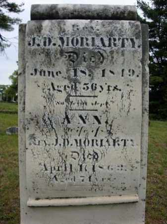 MORIARTY, J D - Saratoga County, New York | J D MORIARTY - New York Gravestone Photos