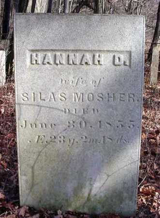 MOSHER, HANNAH D - Saratoga County, New York   HANNAH D MOSHER - New York Gravestone Photos
