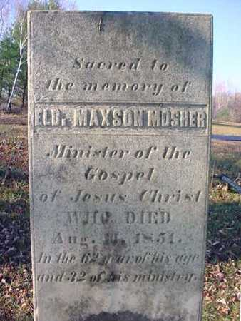 MOSHER, MAXSON - Saratoga County, New York   MAXSON MOSHER - New York Gravestone Photos