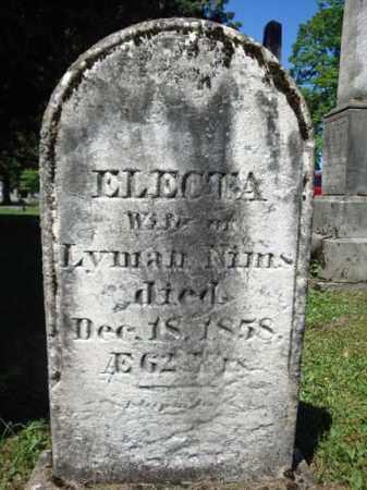 NIMS, ELECTA - Saratoga County, New York | ELECTA NIMS - New York Gravestone Photos