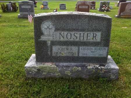 NOSHER, JOHN R. - Saratoga County, New York | JOHN R. NOSHER - New York Gravestone Photos