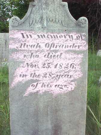 OSTRANDER, ALVAH - Saratoga County, New York   ALVAH OSTRANDER - New York Gravestone Photos