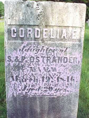 OSTRANDER, CORDELIA E - Saratoga County, New York   CORDELIA E OSTRANDER - New York Gravestone Photos