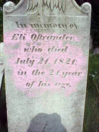 OSTRANDER, ELI - Saratoga County, New York | ELI OSTRANDER - New York Gravestone Photos