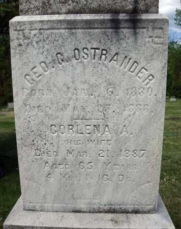 OSTRANDER, CORLENA A - Saratoga County, New York | CORLENA A OSTRANDER - New York Gravestone Photos