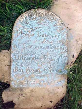 OSTRANDER, PHEBE - Saratoga County, New York | PHEBE OSTRANDER - New York Gravestone Photos