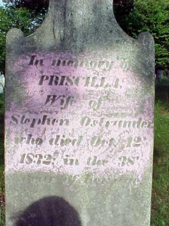 OSTRANDER, PRISCILLA - Saratoga County, New York   PRISCILLA OSTRANDER - New York Gravestone Photos