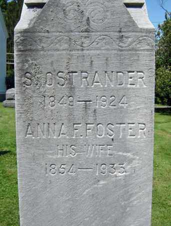 OSTRANDER, ANNA F - Saratoga County, New York | ANNA F OSTRANDER - New York Gravestone Photos