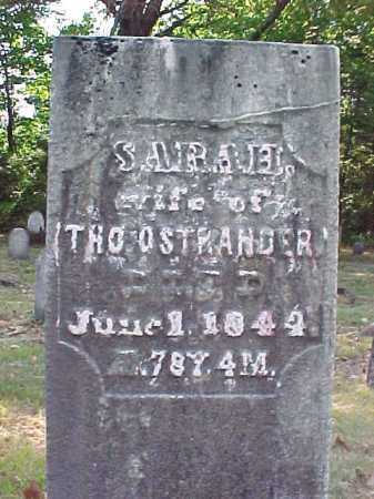 OSTRANDER, SARAH - Saratoga County, New York   SARAH OSTRANDER - New York Gravestone Photos