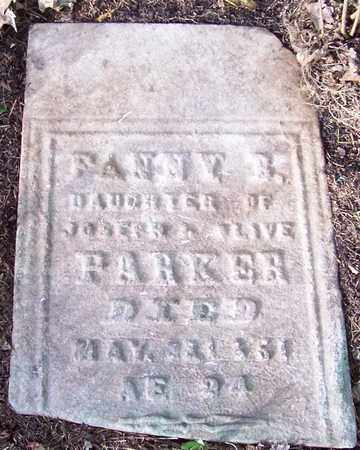 PARKER, FANNY B - Saratoga County, New York   FANNY B PARKER - New York Gravestone Photos