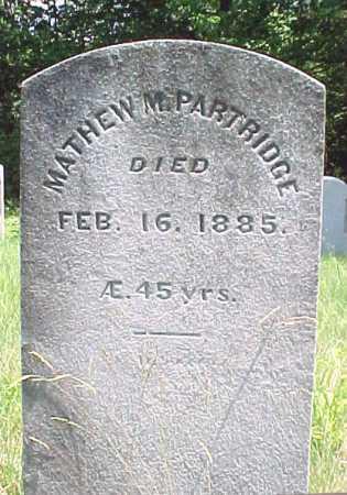 PARTRIDGE, MATHEW M - Saratoga County, New York   MATHEW M PARTRIDGE - New York Gravestone Photos