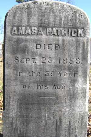 PATRICK, AMASA - Saratoga County, New York | AMASA PATRICK - New York Gravestone Photos