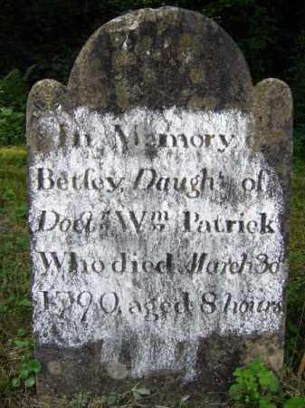 PATRICK, BETSEY - Saratoga County, New York | BETSEY PATRICK - New York Gravestone Photos
