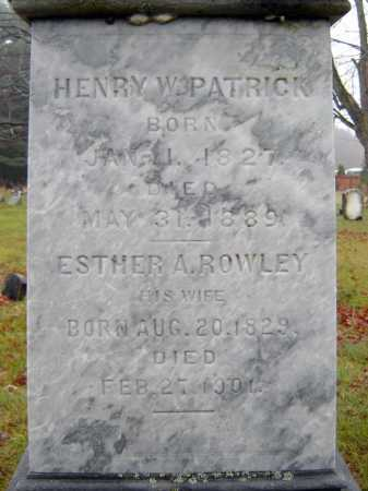 ROWLEY PATRICK, ESTHER A - Saratoga County, New York | ESTHER A ROWLEY PATRICK - New York Gravestone Photos