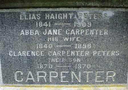 CARPENTER PETERS, ABBA JANE - Saratoga County, New York | ABBA JANE CARPENTER PETERS - New York Gravestone Photos