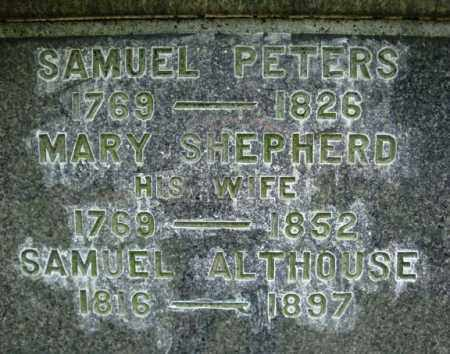 ALTHOUSE, SAMUEL - Saratoga County, New York | SAMUEL ALTHOUSE - New York Gravestone Photos