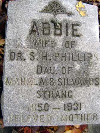 PHILLIPS, ABBIE - Saratoga County, New York | ABBIE PHILLIPS - New York Gravestone Photos