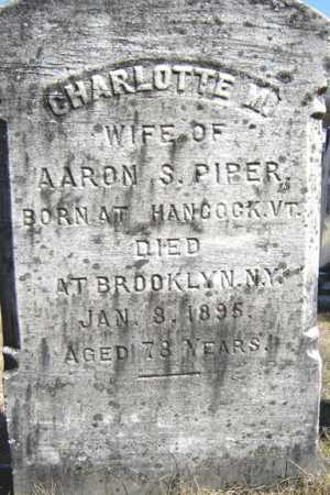 PIPER, CHARLOTTE M - Saratoga County, New York | CHARLOTTE M PIPER - New York Gravestone Photos