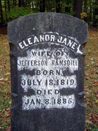RAMSDILL, ELEANOR JANE - Saratoga County, New York   ELEANOR JANE RAMSDILL - New York Gravestone Photos