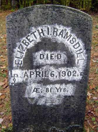 RAMSDILL, ELIZBETH I - Saratoga County, New York   ELIZBETH I RAMSDILL - New York Gravestone Photos