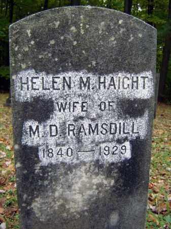 HAIGHT, HELEN M - Saratoga County, New York | HELEN M HAIGHT - New York Gravestone Photos