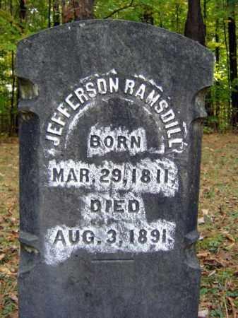 RAMSDILL, THOMAS JEFFERSON - Saratoga County, New York   THOMAS JEFFERSON RAMSDILL - New York Gravestone Photos