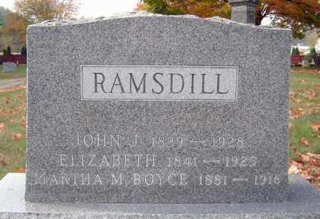RAMSDILL, ELIZABETH - Saratoga County, New York   ELIZABETH RAMSDILL - New York Gravestone Photos